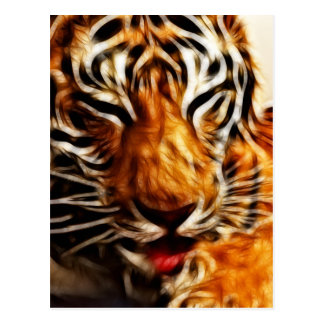 Fractalius Tiger Postcard