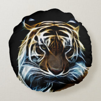 Fractalius tiger round pillow