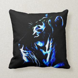 Fractalius Tiger Throw Pillow