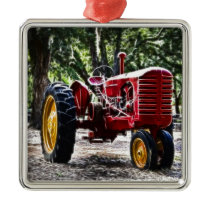 Fractalius Tractor Metal Ornament