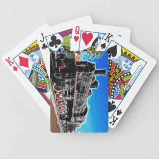 Fractalius Train Bicycle Playing Cards