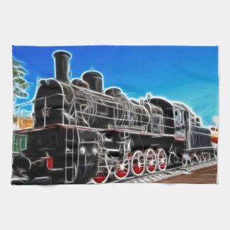 Fractalius Train Hand Towel