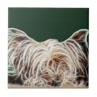Fractalius Yorkie Dog Tiles