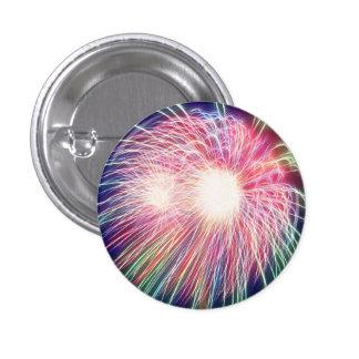 Fractalized Fireworks Pinback Button