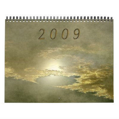 Fractals 2009 wall calendar