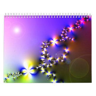 fractals and flowers digital images 2012 calendar