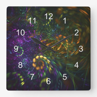 Fractals in Motion Square Clock