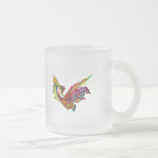 Fractals - Rooster 10 Oz Frosted Glass Coffee Mug