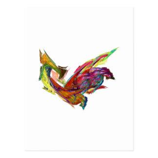 Fractals - Rooster Postcard