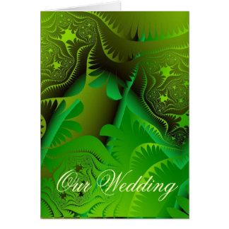 Fractals Wedding Invitation