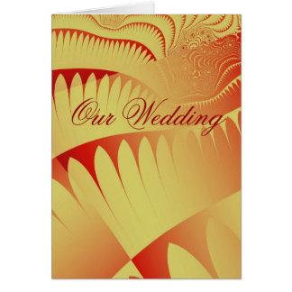 Fractals Wedding Invitation Greeting Card