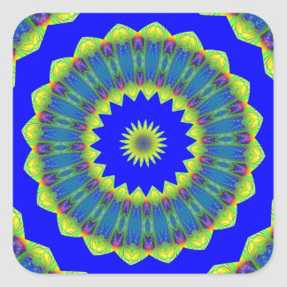 Fractalscope 16 square sticker