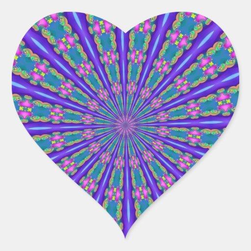 Fractalscope 37 pegatina en forma de corazón