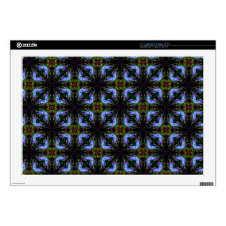 Fractile Blue Green Invasion Mod Decal For Laptop