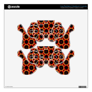 Fractile Flame Skin For PS3 Controller