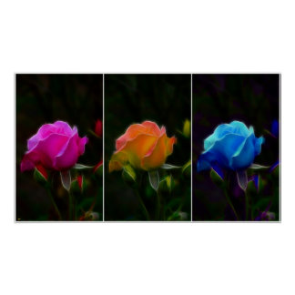 Fractilus Roses Print