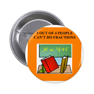 fraction math joke button