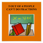 fraction math joke poster