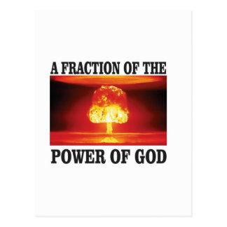 fraction of power of god postcard
