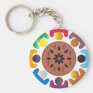 Fractions Basic Round Button Keychain