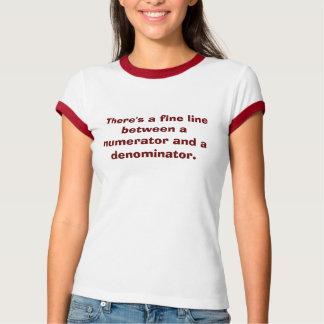 Fractions Math T-Shirt
