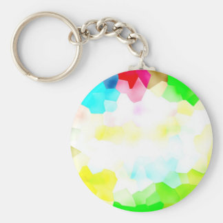 Fractions of Light and Color Basic Round Button Keychain