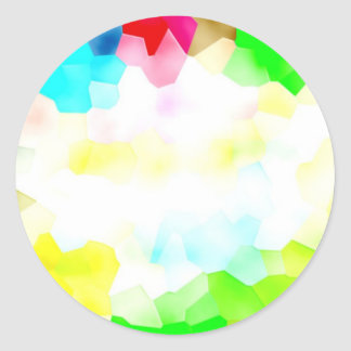 Fractions of Light and Color Classic Round Sticker