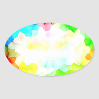 Fractions of Light and Color Oval Sticker