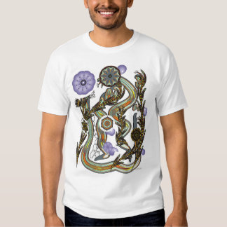 Fractoids and Flower Fronds T-shirt