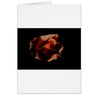 Fractualis color de rosa anaranjado tarjeta de felicitación