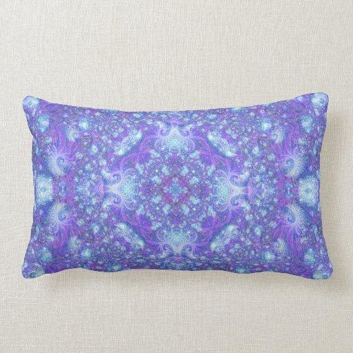 """Fractually Frozen"" Mandala Pillow"
