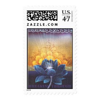 fractura a través sello postal