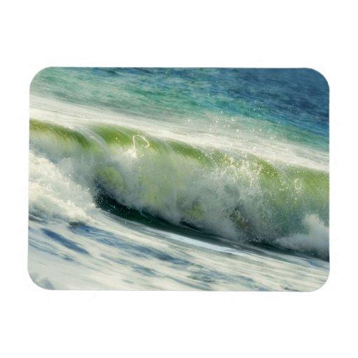 Fractura de la foto de la ola oceánica imán de vinilo
