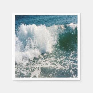 Fractura de la ola oceánica servilleta desechable