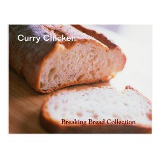 Fractura de la tarjeta de la receta del pollo del postales