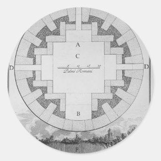 Fractura de la urna sí mismo de Juan Piranesi- Pegatinas Redondas
