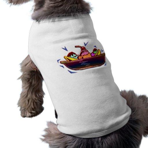Fractura de plátano camiseta de perrito