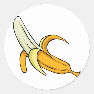 Fractura de plátano pegatina redonda