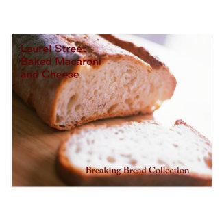 Fractura de receta cocida pan del mac y del queso postales