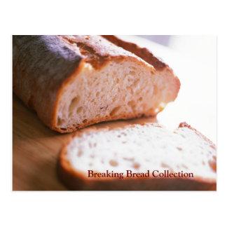 Fractura de receta cocida pan del mac y del queso tarjeta postal