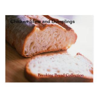 Fractura de receta del guisado y de las bolas de postales