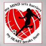 Fractura de señora Soccer Poster de las barreras
