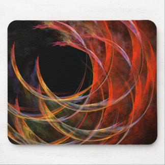 Fractura del arte abstracto Mousepad del círculo