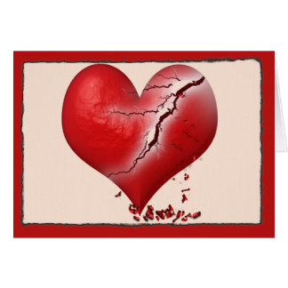 Fractura del corazón tarjeta de felicitación
