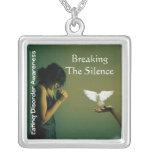 Fractura del desorden awareness2 de la Silence©-Co Colgante Cuadrado