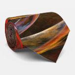 Fractura del lazo del arte abstracto del círculo corbata