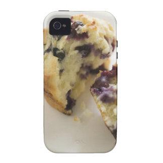 Fractura del mollete del arándano abierta en una Case-Mate iPhone 4 funda