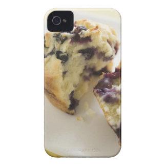 Fractura del mollete del arándano abierta en una iPhone 4 Case-Mate protectores