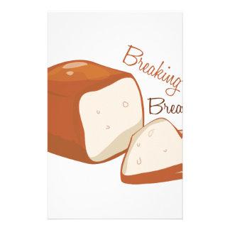 Fractura del pan papelería de diseño
