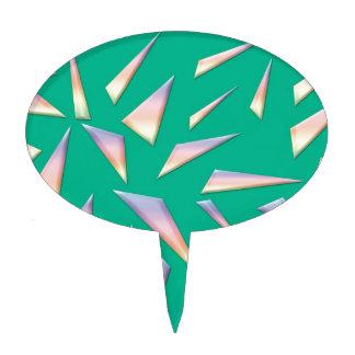 Fractura del vidrio en verde figura para tarta